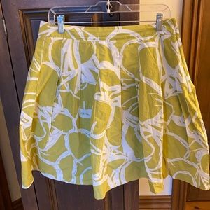 Beautiful Full and Pleaded Lime Skirt H&M 12